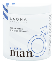 Saona Cosmetics Cахарная паста для шугаринга Man Line Classic Sugar Paste For Hair Removal 1000г