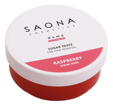 Saona Cosmetics Сахарная паста для шугаринга зоны бикини Home Line Sugar Paste For Hair Removal Raspberry 300г
