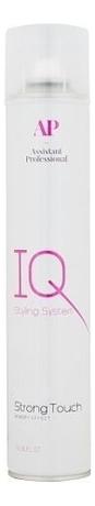 Лак для волос стойкой фиксации с эффектом памяти Styling Iq System Strong Touch 490мл