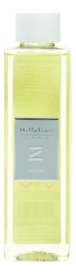 Купить Наполнитель для диффузора 250мл, Наполнитель для диффузора Воздух Zona Oxygen, Millefiori Milano