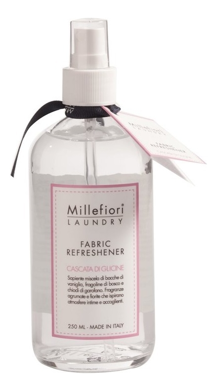 Аромат для тканей Шепот водопада Laundry Fabric Refreshener Cascata Di Glicine: Спрей 250мл