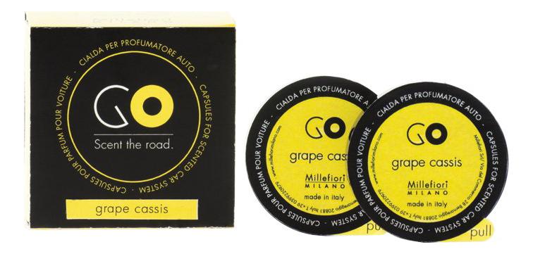 сменный блок к электрическому ароматизатору ария aria grape cassis 20мл виноградная гроздь Ароматический картридж для автомобиля Виноградная гроздь Refill Go Grape Cassis (2 кап)