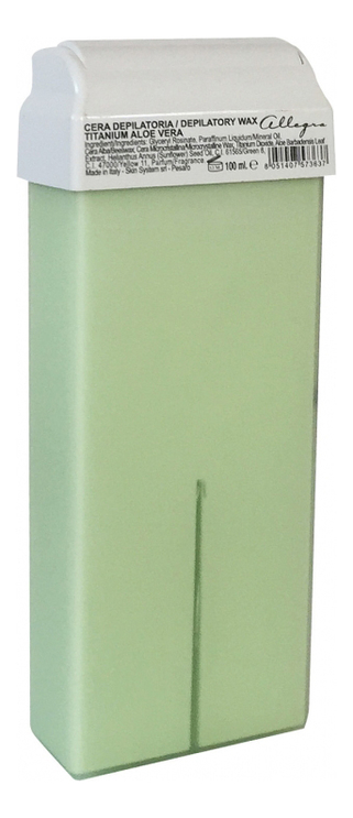 Воск в картриджах Алоэ Вера Cera Depilatoria Titanium Aloe Vera 100г горячий воск для депиляции с экстрактом алоэ вера aloe vera 100г