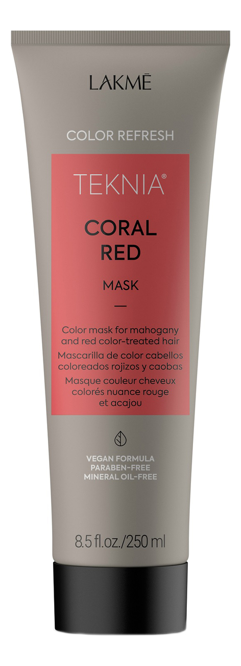 Маска для поддержания оттенка окрашенных волос Color Refresh Teknia Coral Red Mask: 250мл
