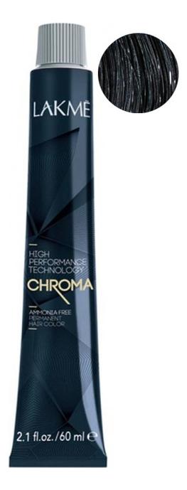 Безаммиачная крем-краска для волос Chroma Ammonia Free Permanent Hair Color 60мл: 1-00 Черный