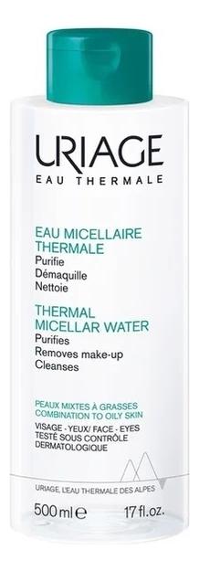 Фото - Мицеллярная вода для жирной и комбинированной кожи Eau Thermale Micellaire: Вода 500мл uriage мицеллярная вода очищающая для жирной и комбинированной кожи 500 мл