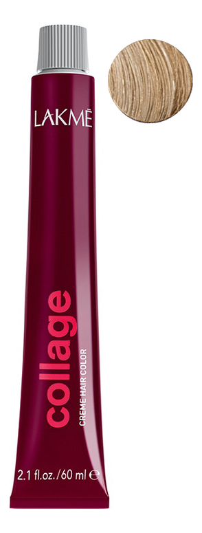 Перманентная крем-краска для волос Collage Creme Hair Color 60мл: 10-13 Очень светлый блондин бежевый фото
