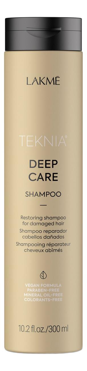 Купить Восстанавливающий шампунь для сухих или поврежденных волос Teknia Deep Care Shampoo: Шампунь 300мл, Lakme