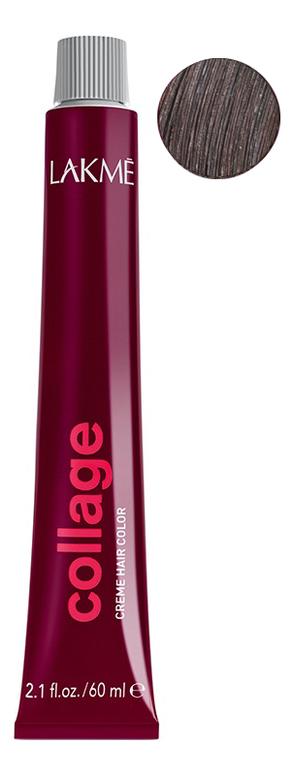 Перманентная крем-краска для волос Collage Creme Hair Color 60мл: 5-06 Светлый шатен теплый