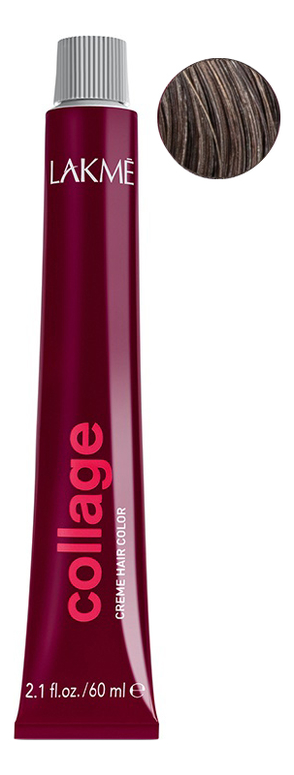 Перманентная крем-краска для волос Collage Creme Hair Color 60мл: 5-17 Светлый шатен пепельный недорого