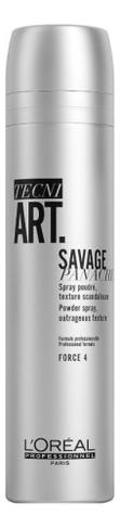 Сухой спрей с пудровой текстурой для объема волос Tecni. Art Wild Stylers 60S Babe Savage Panache 250мл