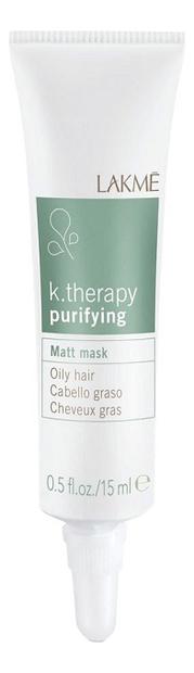 Маска для жирных волос с матирующим эффектом K.Therapy Purifying 6*15мл фото