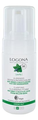 Купить Пенка для лица с Био-мятой Clarifyng Cleansing Foam 100мл, Logona