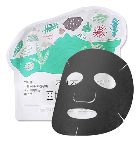 Тканевая маска для сужения пор Jeju Volcanic Pore-Tightening Mask 21г eunyul маска pore tightening radiance pack очищающая для сужения пор 100 мл