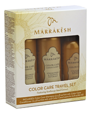 Marrakesh Набор для волос Color Care Travel (шампунь 100мл + кондиционер 100мл + спрей-кондиционер 59мл)