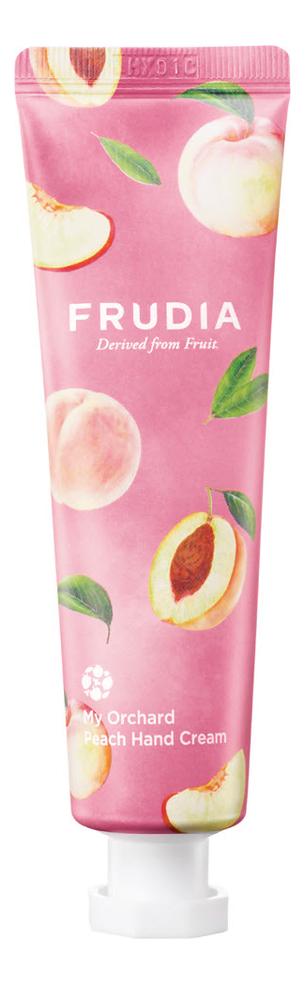 Крем для рук c экстрактом персика Squeeze Therapy My Orchard Peach Hand Cream 30г: Крем 30мл
