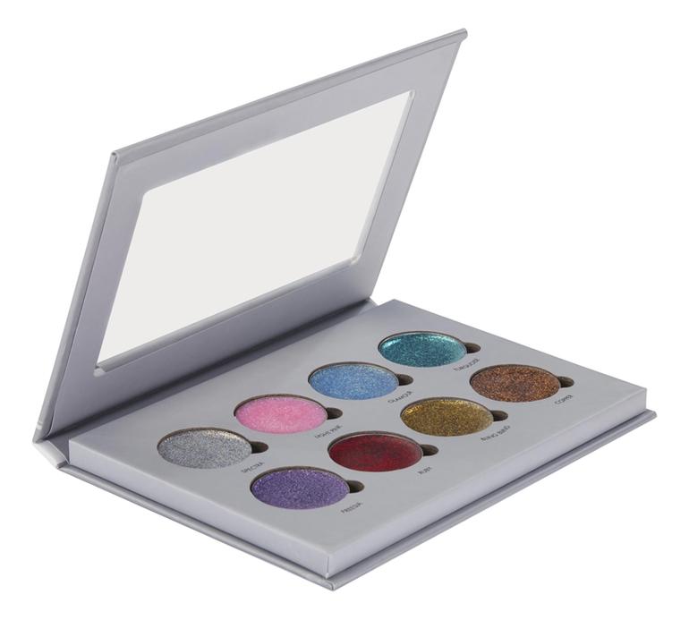 Палетка для глаз и губ кремообразная 8 Color Pro Glitter Palette 151,2г