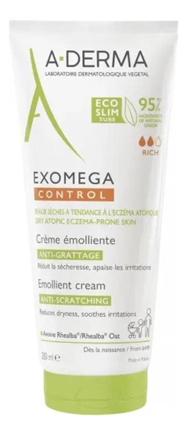 Купить Смягчающий крем для лица и тела Exomega Control Creme Emolliente: Крем 200мл, A-DERMA