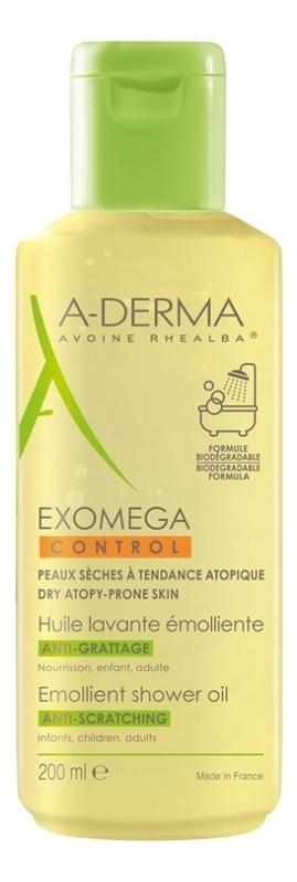 Купить Смягчающее очищающее масло Exomega Control: Масло 200мл, Масло смягчающее для лица и тела Exomega Huile Nettoyante Emolliente, A-DERMA