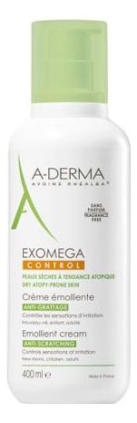 Купить Смягчающий крем для лица и тела Exomega Creme Emolliente 400мл, A-DERMA