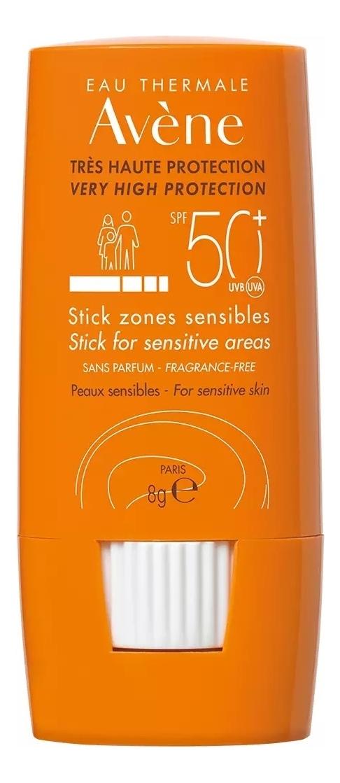 Солнцезащитный стик для губ Peaux Sensibles Tres Haute Protection Stick Sones Sensibles SPF50+ 8г питательный компенсирующий крем 50 мл avene sensibles