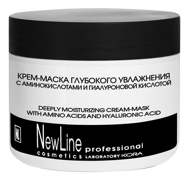 Крем-маска для лица с аминокислотами и гиалуроновой кислотой Deeply Moisturizing Cream-Mask With Amino Acids And Hyaluronic Acid 300мл