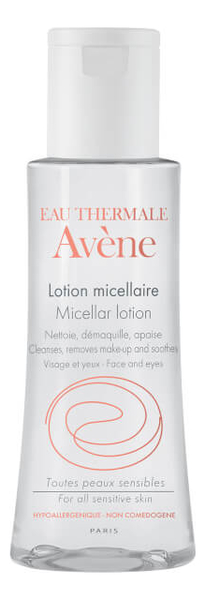 Купить Мицеллярный лосьон для лица Soins Essentiels Visage Micellar Lotion: Лосьон 100мл, Avene