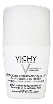 Шариковый дезодорант для чувствительной кожи Deodorant Anti-Transpirant 48H 50мл шариковый дезодорант vichy