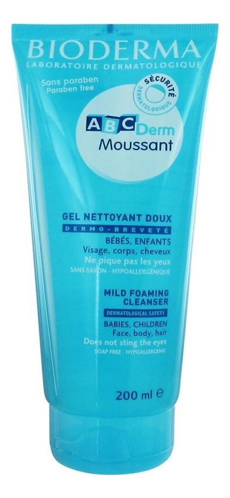 Мусс для волос и кожи головы ABCDerm Gel Moussant Mild Foaming Cleanser 200мл bioderma atoderm pp gel moussant