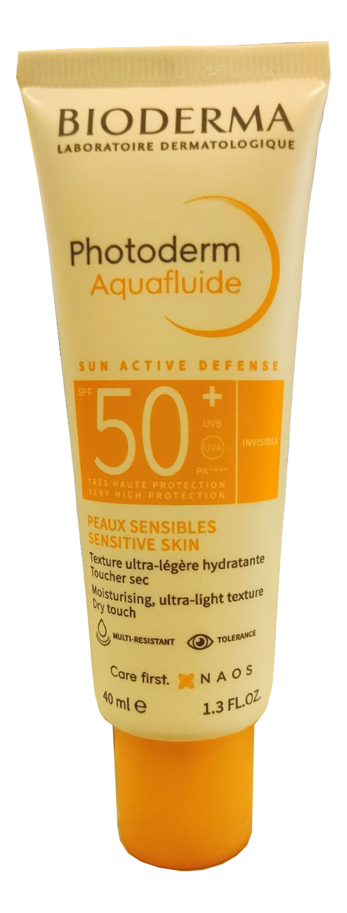Аквафлюид для лица Photoderm Max Aquafluide SPF50+ 40мл bioderma фотодерм max аквафлюид spf 50 40 мл bioderma photoderm