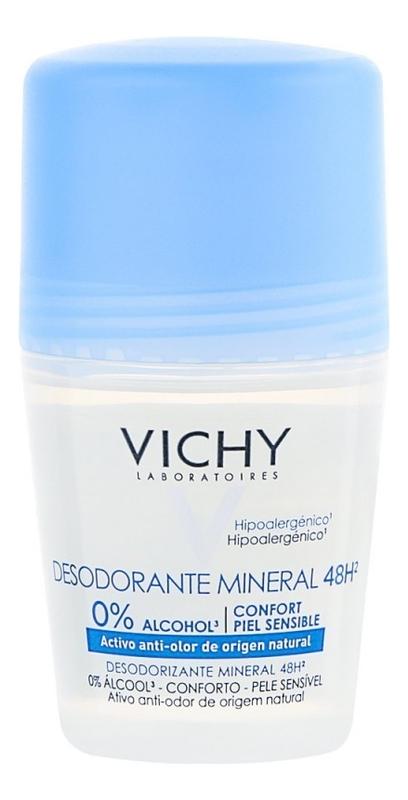 Шариковый дезодорант с минералами без солей алюминия Mineral Deodorant Roll-On 48H 50мл шариковый дезодорант vichy