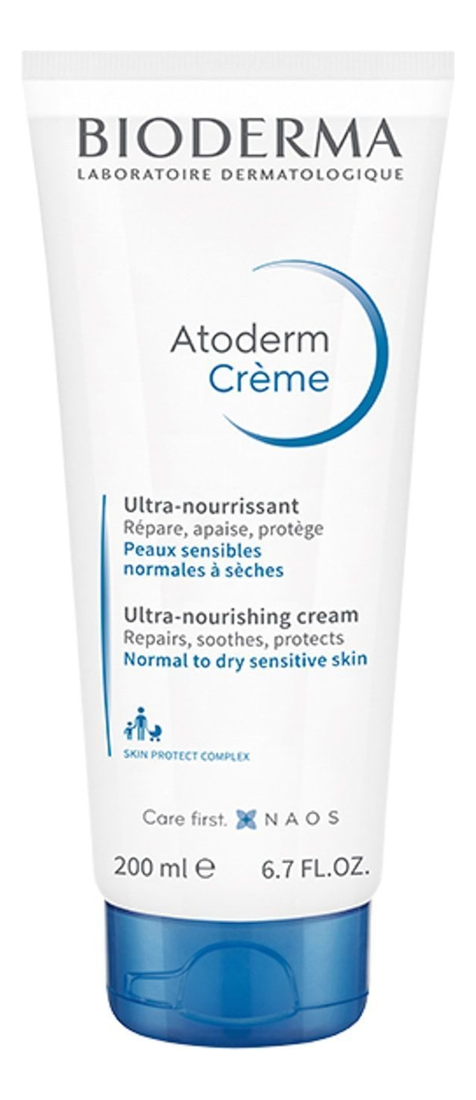 Крем для лица и тела Atoderm Ultra-Nourishing Cream 200мл bioderma atoderm creme ultra nourrissante