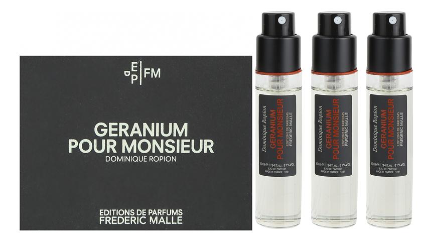 Купить Geranium Pour Monsieur: парфюмерная вода 3*10мл, Frederic Malle