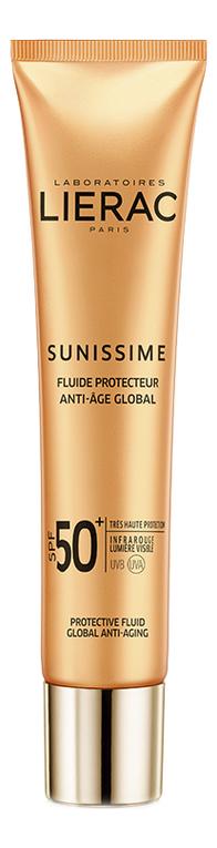 Солнцезащитный тонизирующий флюид для лица и зоны декольте Sunissime Fluide Protecteur Anti-Age Global SPF50 40мл недорого