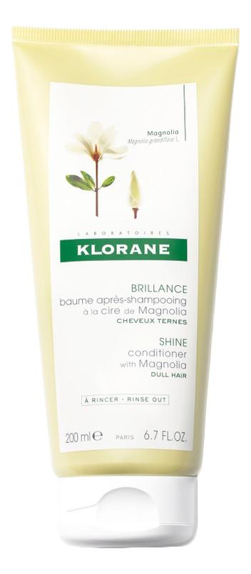 Бальзам-кондиционер для волос с воском магнолии Cire De Magnolia Brillance Baume Apres-Shampooing 200мл klorane шампунь с воском магнолии для всех типов волос 200 мл