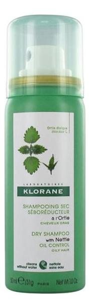 Сухой шампунь для волос с экстрактом крапивы Ortie Shampooing Sec: Сухой шампунь 50мл