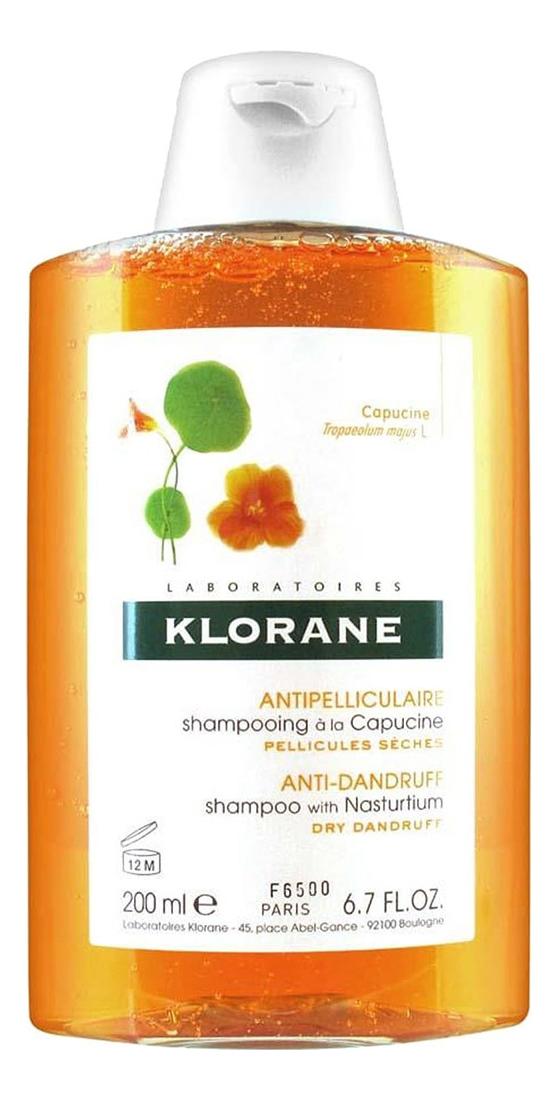 Купить Шампунь для волос с экстрактом настурции против сухой перхоти Capucine Shampooing 200мл, Klorane
