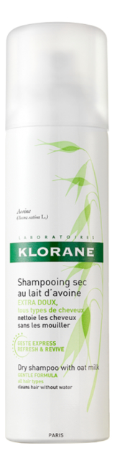 Сухой шампунь для волос с молочком овса Lait D'Avoine Shampooing Sec: Сухой шампунь 150мл klorane сухой шампунь купить москва