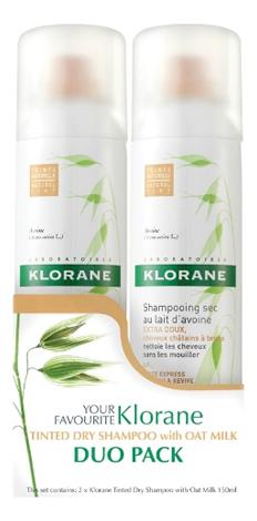 Сухой тонирующий шампунь для волос с молочком овса Lait D'Avoine Shampooing Sec: Сухой шампунь 2*150мл