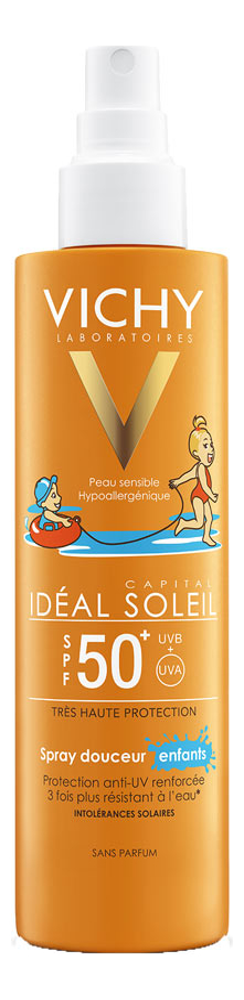 Спрей для детей защита от солнца Capital Ideal Soleil SPF50+ 200мл защита стекол от солнца