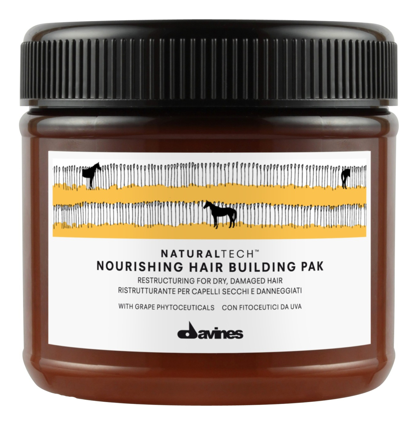 Купить Питательная маска для волос Natural Tech Nourishing Hair Building Pak: Маска 250мл, Davines