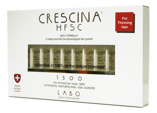 Ампулы для восстановления роста волос Re-Growth HFSC 100% Formula 1300 Man: Ампулы 20*3,5мл phytocyane ампулы