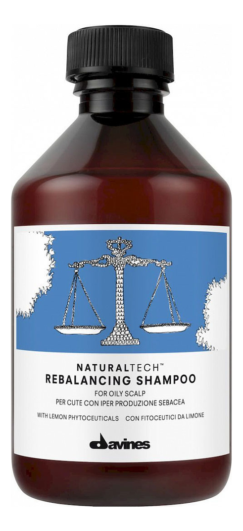 Купить Шампунь для волос Natural Tech Rebalancing Shampoo: Шампунь 250мл, Davines