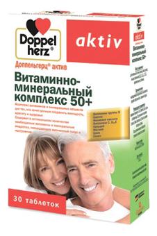 Витаминно-минеральный комплекс 50+ Aktiv 30 таблеток, Doppelherz  - Купить