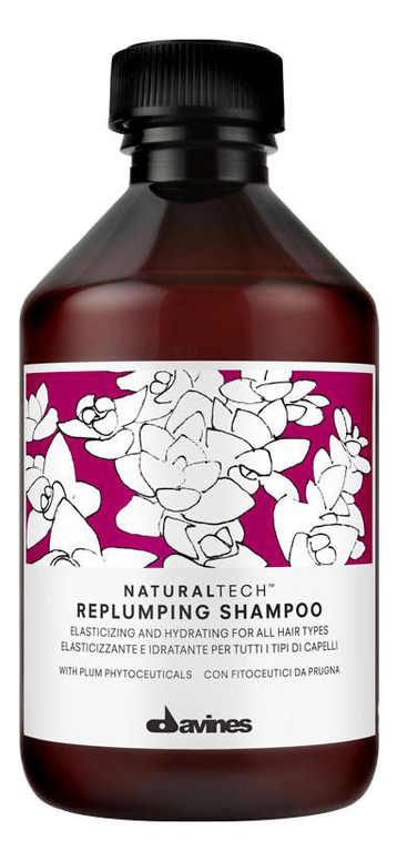 Купить Шампунь для волос Natural Tech Replumping Shampoo: Шампунь 250мл, Davines