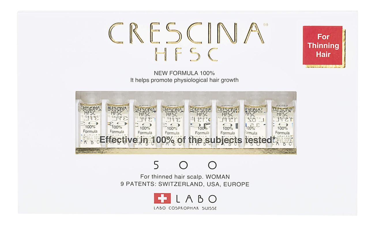 Купить Ампулы для восстановления роста волос Re-Growth HFSC 100% Formula 500 Woman: Ампулы 10*3, 5мл, Crescina