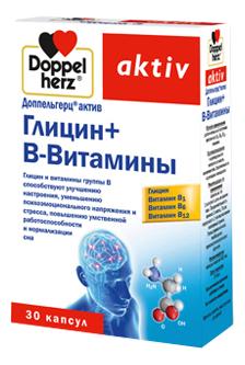 Биодобавка Глицин + В-Витамины Aktiv 30 капсул