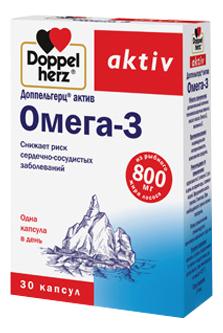 Биодобавка Омега-3 Aktiv : 30 капсул