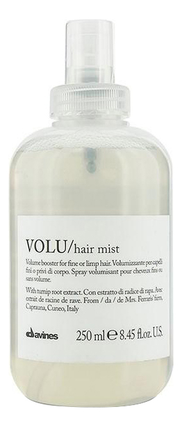Купить Несмываемый спрей для придания объема волосам Volu Hair Mist 250мл, Davines