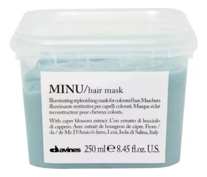 Купить Восстанавливающая маска для окрашенных волос Minu Hair Mask: Маска 250мл, Davines